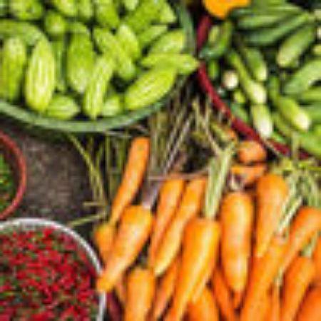 صورة لقسم الخضروات الطازجة